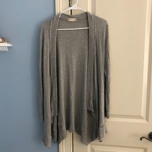 altar'd state gray cardigan sweater
